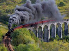 Steam Trains in Art